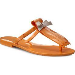 Japonki MELISSA - T Bar III Ad 31683 Orange 01471. Brązowe klapki damskie Melissa, z materiału. W wyprzedaży za 179.00 zł.