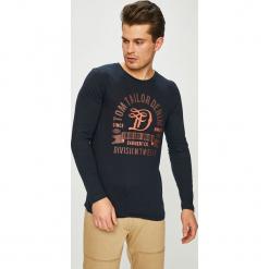 Tom Tailor Denim - Longsleeve. Szare bluzki z długim rękawem męskie Tom Tailor Denim, z nadrukiem, z bawełny, z okrągłym kołnierzem. W wyprzedaży za 59.90 zł.