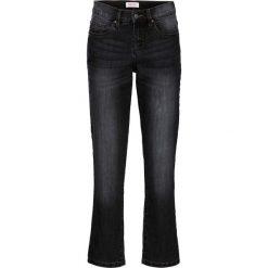 Wygodne dżinsy ze stretchem 7/8 Straight bonprix czarny. Jeansy damskie marki bonprix. Za 44.99 zł.