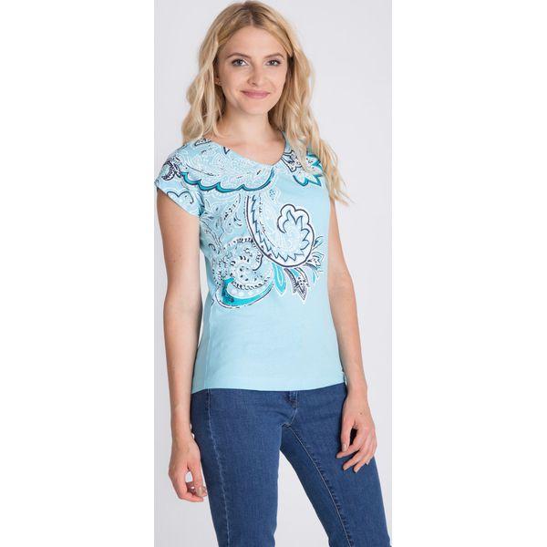 129e48803722 Niebieska bluzka ze wzorem QUIOSQUE - Bluzki damskie marki QUIOSQUE ...