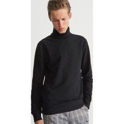 Bluza z golfem - Czarny. Czarne bluzy męskie Reserved. Za 119.99 zł.