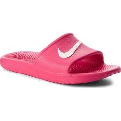 Klapki NIKE - Kawa Shower (GS) AQ0899 601 Rush Pink/White. Czerwone klapki damskie Nike, z tworzywa sztucznego. Za 79.00 zł.