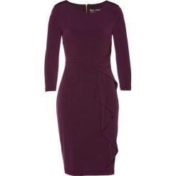 Sukienka shirtowa bonprix czarny bez. Fioletowe sukienki damskie bonprix, z długim rękawem. Za 129.99 zł.