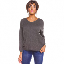 """Sweter """"Karine"""" w kolorze szarym. Szare swetry damskie So Cachemire, z kaszmiru. W wyprzedaży za 173.95 zł."""