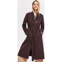 ae6fd47860 Długi płaszcz z imitacji zamszu - Brązowy. Płaszcze damskie marki Reserved.  Za 239.99 zł