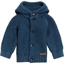 """Kardigan """"Brooklyn"""" w kolorze niebieskim. Niebieskie swetry dla chłopców marki Noppies Baby, z aplikacjami, z bawełny, z kapturem. W wyprzedaży za 69.95 zł."""