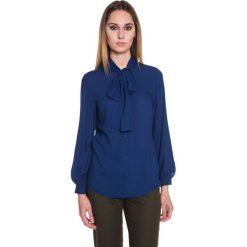 Koszula z szyfonu zapinana na guziki BIALCON. Niebieskie koszule damskie BIALCON, z szyfonu, wizytowe. W wyprzedaży za 79.00 zł.