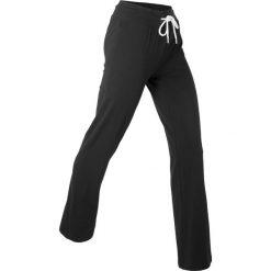 Spodnie shirtowe palazzo, długie, Level 1 bonprix czarny. Spodnie sportowe damskie marki WED'ZE. Za 74.99 zł.