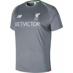 Treningowa Koszulka Liverpool - MT831006CTR. Szare koszulki sportowe męskie New Balance, na jesień, z materiału. Za 299.99 zł.