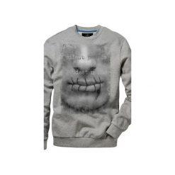 Bluza UNDERWORLD casual Usta. Szare bluzy męskie Underworld, z nadrukiem, z bawełny. Za 119.99 zł.