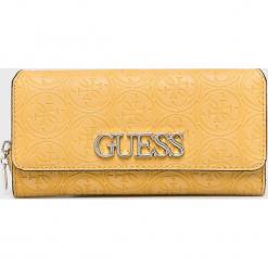 Guess Jeans - Portfel. Pomarańczowe portfele damskie Guess Jeans, z aplikacjami, z jeansu. Za 279.90 zł.