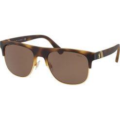 Polo Ralph Lauren - Okulary PH4132. Brązowe okulary przeciwsłoneczne męskie Polo Ralph Lauren, z materiału. Za 499.90 zł.