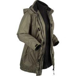 Płaszcz outdoorowy funkcyjny 3 w 1 bonprix ciemnooliwkowo-czarny. Płaszcze damskie marki FOUGANZA. Za 319.99 zł.