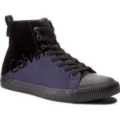 Trampki CALVIN KLEIN JEANS - Ajax S0495 Indigo/Black. Czarne trampki męskie Calvin Klein Jeans, z jeansu. W wyprzedaży za 309.00 zł.