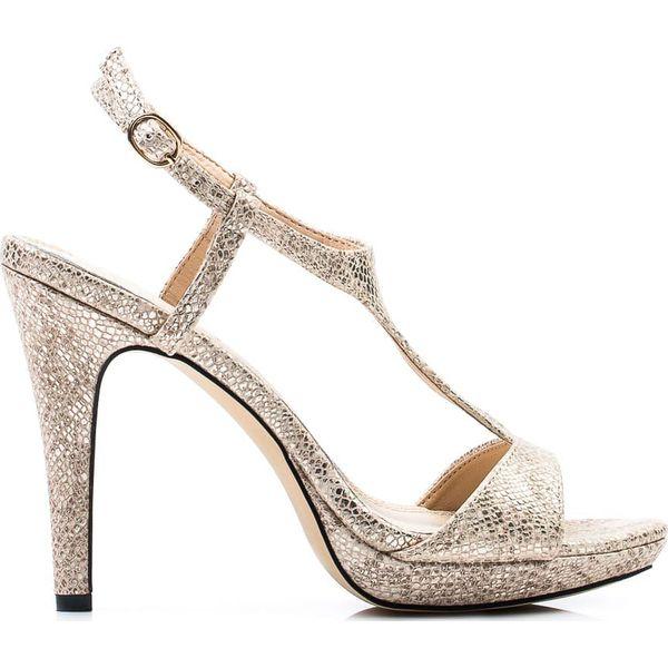 cbd39e1ce47a5c Złote sandały na szpilce Monnari (38) - Sandały damskie Monnari. Za ...