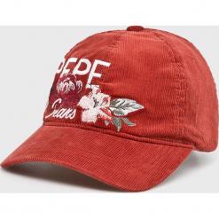 Pepe Jeans - Czapka Peggy. Różowe czapki i kapelusze damskie Pepe Jeans, z bawełny. Za 119.90 zł.