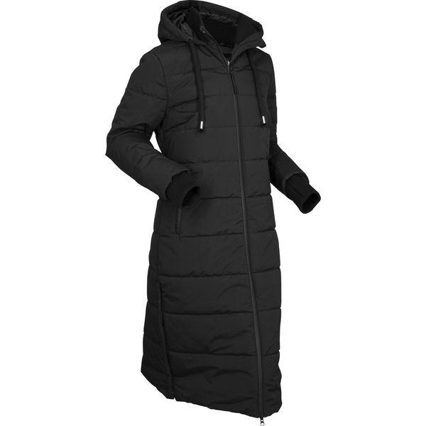 Długi damski pikowany płaszcz Andel Czarny