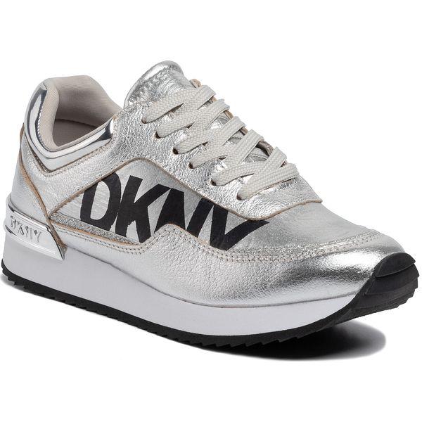 Sneakersy DKNY Marie K3944733 Met NyTum Met Silver Sil