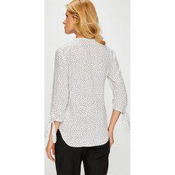 Medicine - Bluzka Basic. Czarne bluzki damskie MEDICINE, z tkaniny, casualowe, ze stójką, z krótkim rękawem. Za 59.90 zł.