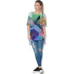 Colour Pleasure Koszulka CP-033  14 niebiesko-zielono-różowa r. uniwersalny. T-shirty damskie Colour Pleasure. Za 76.57 zł.