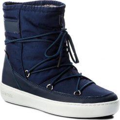 Śniegowce MOON BOOT - Pulse 24102500005 Blu Navy. Niebieskie śniegowce i trapery damskie Moon Boot, z materiału. W wyprzedaży za 479.00 zł.