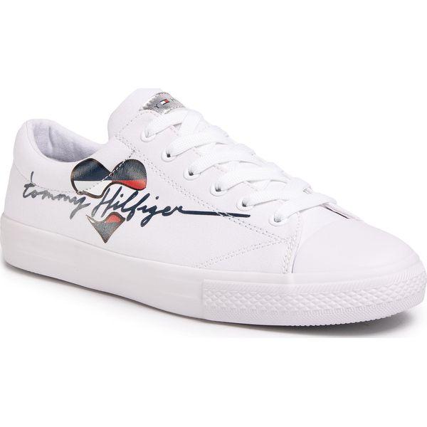 Trampki TOMMY HILFIGER Low Cut Lace Up Sneaker T3A4 30600 0924 S White 100