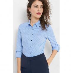Taliowana koszula ze wzorem. Niebieskie koszule damskie Orsay, z bawełny. Za 89.99 zł.