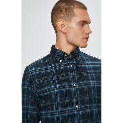 Premium by Jack&Jones - Koszula. Szare koszule męskie Premium by Jack&Jones, w kratkę, z bawełny, z włoskim kołnierzykiem, z długim rękawem. W wyprzedaży za 139.90 zł.