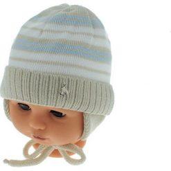 Czapka niemowlęca podszyta bawełną cz-059B beżowa. Czapki dla dzieci marki Reserved. Za 29.56 zł.