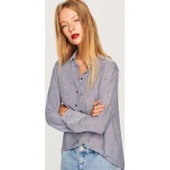 Koszula we wzory - Niebieski. Niebieskie koszule damskie Reserved. Za 49.99 zł.
