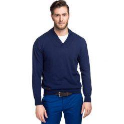 Sweter ALESSANDRO SWG000049. Brązowe swetry przez głowę męskie Giacomo Conti, na zimę, z bawełny. Za 299.00 zł.