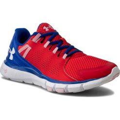 Buty UNDER ARMOUR - Ua W Micro G Limitless Tr 1258736-669 Rtr/Ubl/Wht. Czerwone obuwie sportowe damskie Under Armour, w paski, z gumy. W wyprzedaży za 219.00 zł.