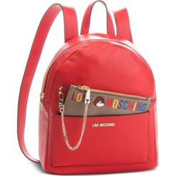 Plecak LOVE MOSCHINO - JC4277PP06KK0500  Rosso. Czerwone plecaki damskie Love Moschino, ze skóry ekologicznej. Za 959.00 zł.