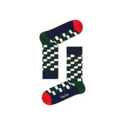 Skarpetki Happy Socks - Holiday XMAS (FIO01-7002). Szare skarpety męskie Happy Socks, w kolorowe wzory, z bawełny. Za 34.90 zł.