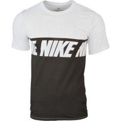 Nike Repeat Logo T-Shirt 856475-100. Białe t-shirty męskie Nike, z bawełny. W wyprzedaży za 79.99 zł.
