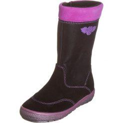 Skórzane kozaki w kolorze czarnym. Buty zimowe dziewczęce Zimowe obuwie dla dzieci. W wyprzedaży za 149.95 zł.