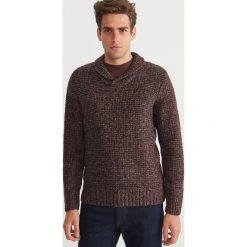 Sweter - Bordowy. Swetry przez głowę męskie marki Giacomo Conti. W wyprzedaży za 79.99 zł.