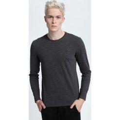 Longsleeve męski TSML001 - ciemny szary melanż. Szare bluzki z długim rękawem męskie 4f, melanż, z bawełny. W wyprzedaży za 49.99 zł.