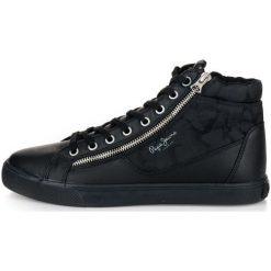 Pepe Jeans Tenisówki Męskie Marton Boot 45 Czarny. Czarne trampki męskie Pepe Jeans, z jeansu. Za 366.00 zł.