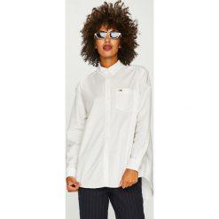 Tommy Jeans - Koszula. Szare koszule damskie Tommy Jeans, z bawełny, casualowe, button down, z długim rękawem. Za 299.90 zł.