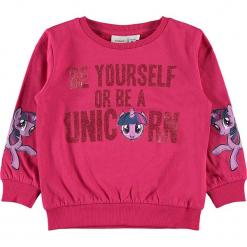 """Bluza """"Amina"""" w kolorze różowym. Czerwone bluzy dla dziewczynek Name it Kids, z bawełny. W wyprzedaży za 62.95 zł."""