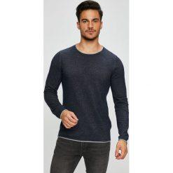 Selected - Sweter. Czarne swetry przez głowę męskie Selected, z bawełny, z okrągłym kołnierzem. W wyprzedaży za 99.90 zł.