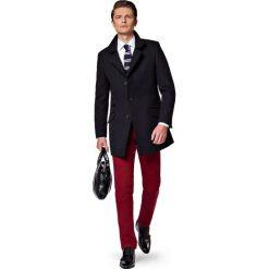Płaszcz Czarny Andro. Czarne płaszcze męskie LANCERTO, na jesień, z bawełny, eleganckie. W wyprzedaży za 499.90 zł.