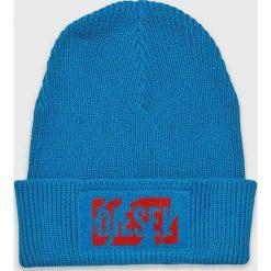 Diesel - Czapka. Szare czapki i kapelusze damskie Diesel, z bawełny. Za 259.90 zł.
