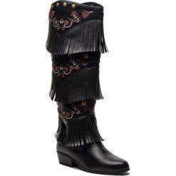 Kozaki DESIGUAL - Shoes Totem Gipsy Patch 18WSTP01 2000. Czarne kozaki damskie Desigual, z materiału. Za 599.90 zł.