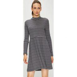 Vero Moda - Sukienka. Szare sukienki damskie Vero Moda, z bawełny, casualowe, z długim rękawem. Za 119.90 zł.