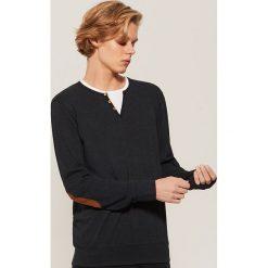 Koszulka z długim rękawem - Czarny. Czarne bluzki z długim rękawem męskie House. Za 59.99 zł.