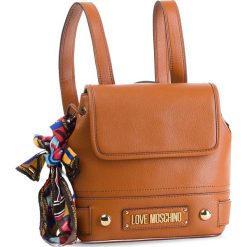 Plecak LOVE MOSCHINO - JC4037PP17LD0200 Cuoio. Brązowe plecaki damskie Love Moschino, ze skóry ekologicznej. Za 839.00 zł.