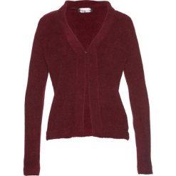 Sweter rozpinany z puszystej przędzy bonprix czerwony klonowy. Kardigany damskie marki bonprix. Za 37.99 zł.