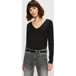 Trendyol - Bluzka. Czarne bluzki damskie Trendyol, z bawełny, casualowe. Za 49.90 zł.
